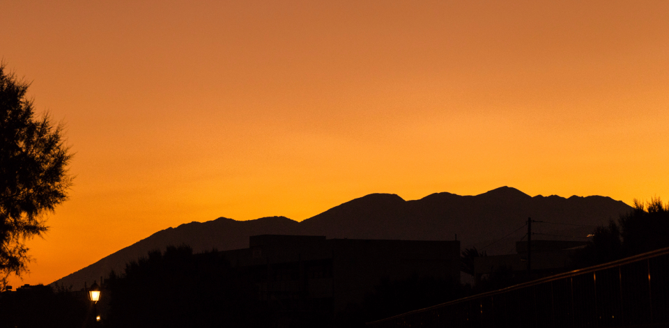 sunset color greece crete orange sky minimal