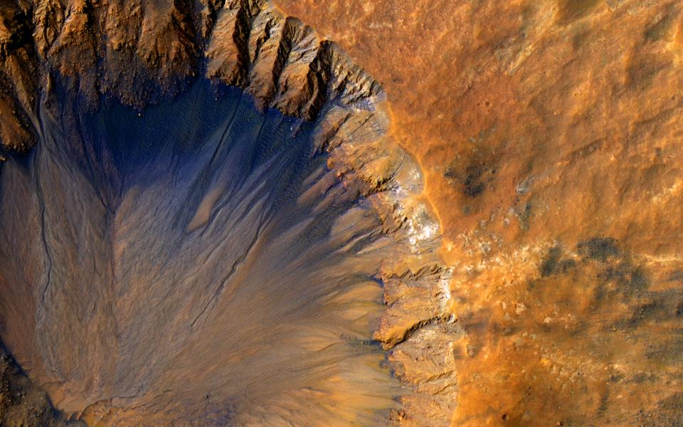 mars crater space planet nasa science space