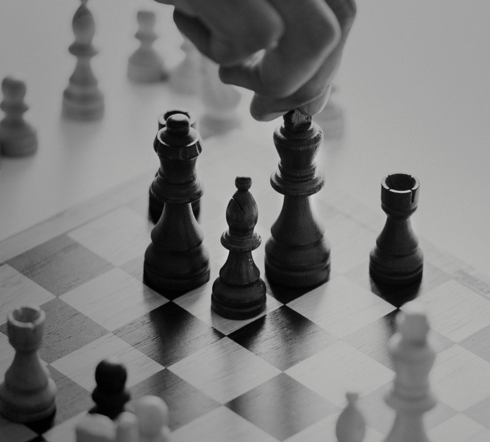 black and white business people business strategy bw caucasian challenge chess closeup competition decision english european game german gray scale grayscale hands help isolated on white mind game mind games performance person plan