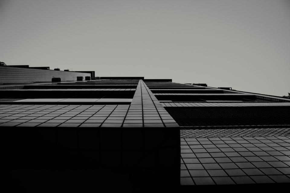 art structure squares lines modern black and white grayscale