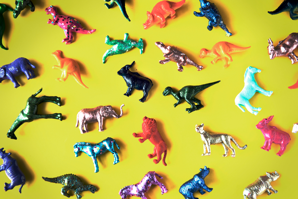 animal figures background colorful fun ancient assorted childhood close up collection dinosaur elephant extinct figurine funky happy hippo horse isolated objects jungle jurassic lion mammals mixed model plastic