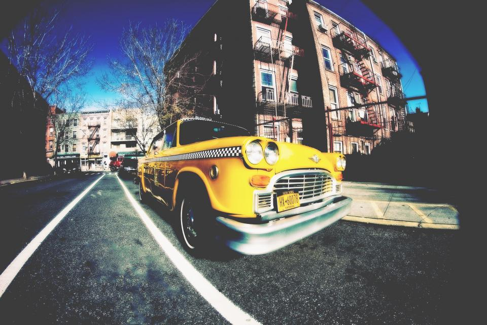 new york taxi brooklyn nostalgia urban yellow city