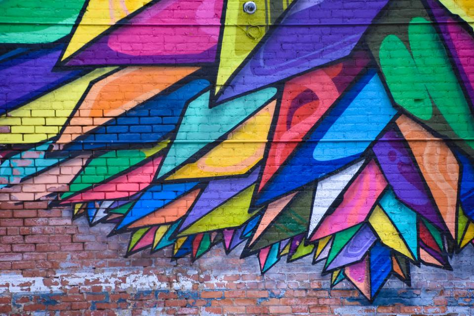 wall art mural colorful painting graffiti public