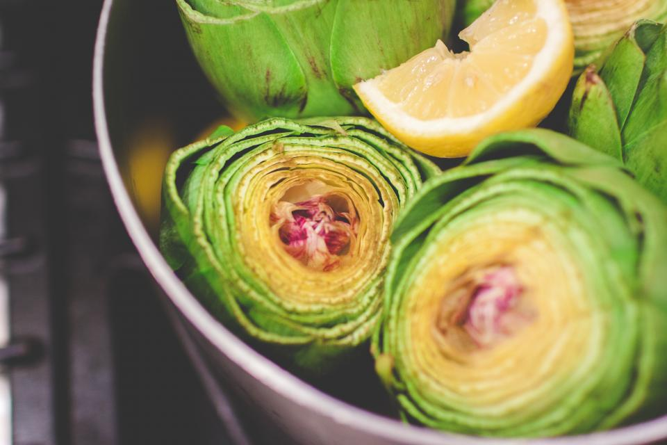 artichoke plant food green lemon fruit juicy blur