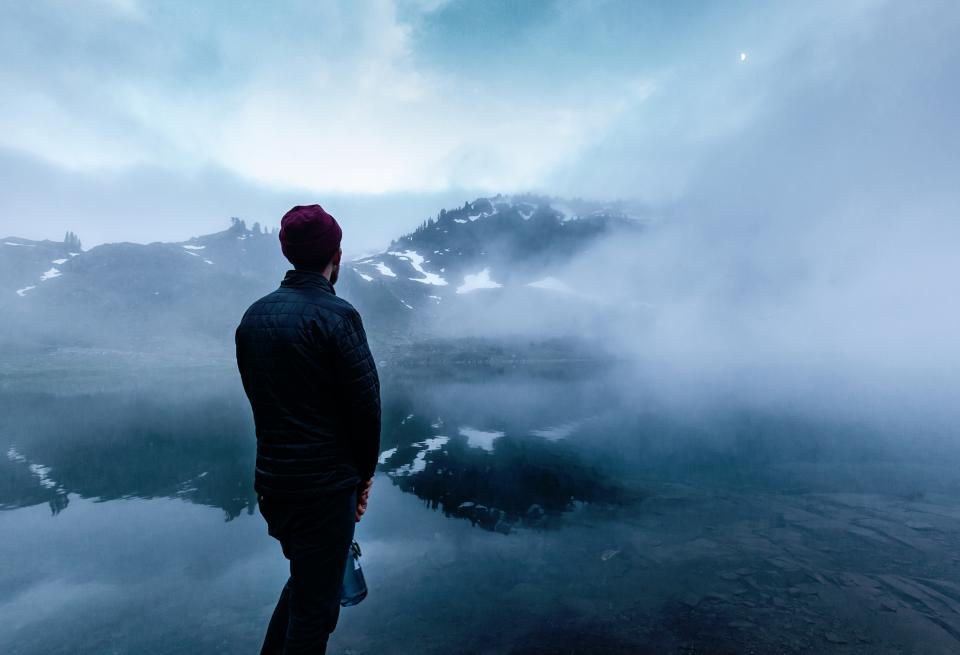 people nature mountains snow cold smoke haze fog blue people man guy
