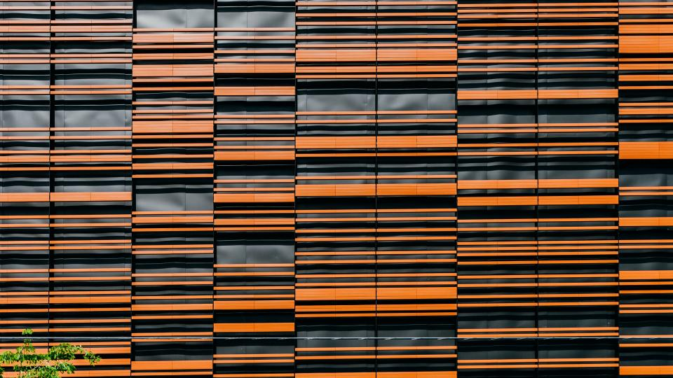 orange wall pattern art