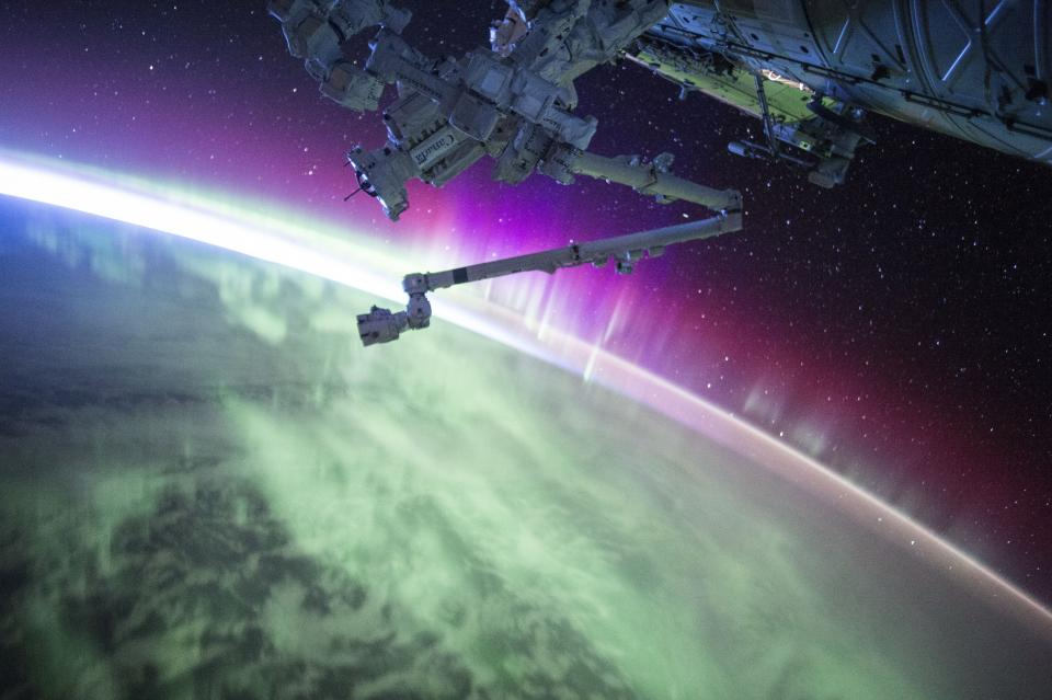 satellite earth space galaxy gravity aurora
