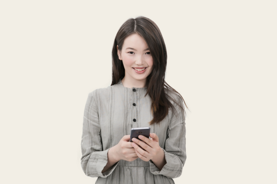 woman smartphone girl smile asian woman people smiling happy texting mobile technology business fashion clothes trendy