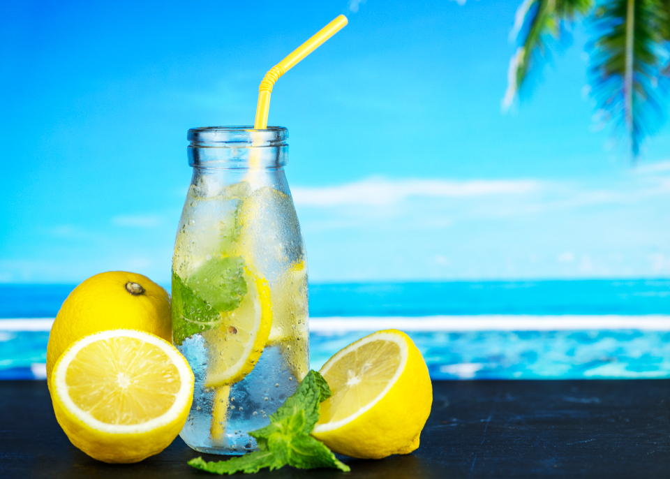 antioxidant beach beverage closeup cold water dehydration detox detox drink detox water drink drinking flavored food photography fresh freshness fruit fruit flavored water fruit infused water healthcare healthy herb homemade hydrated