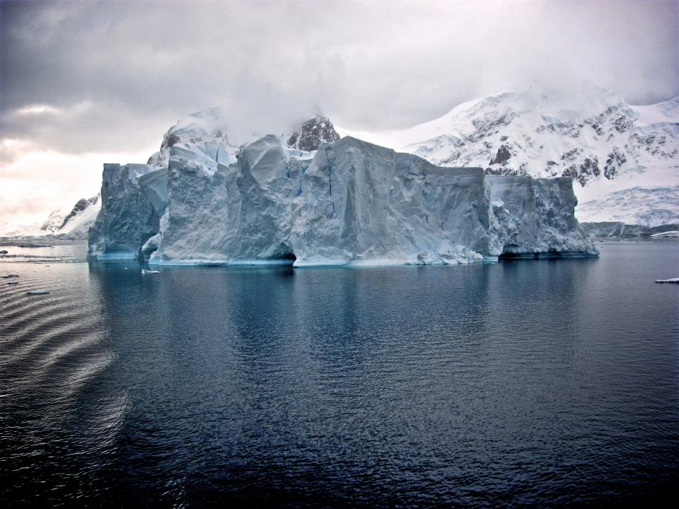 sea ocean water iceberg snow winter mountain