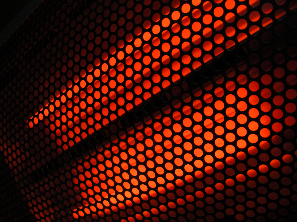 abstract glowing pattern hot industrial object circles infrared heater background electric heat warmth