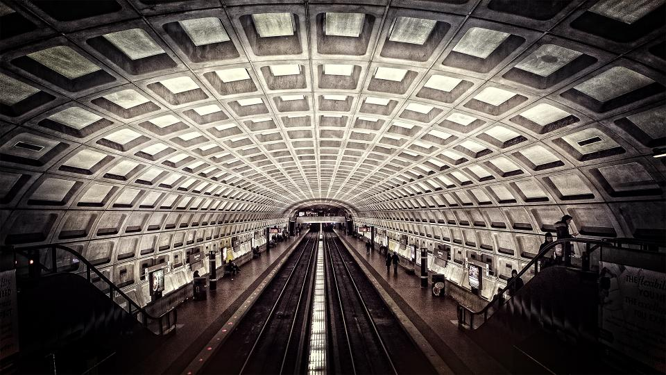 metro washington dc subway travel rails stairs transit transportation