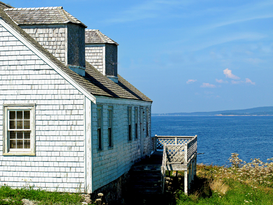 ocean cottage coast water view sea building house seaside scenic coastal landscape architecture weathered property