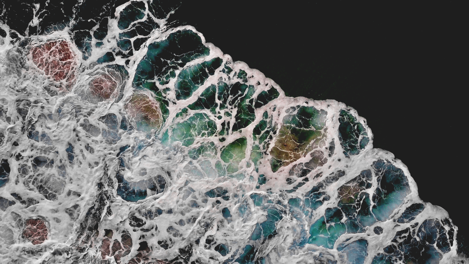 abstract ocean aerial waves beach above drone water background sea surface pacific tide outdoors earth dark blue