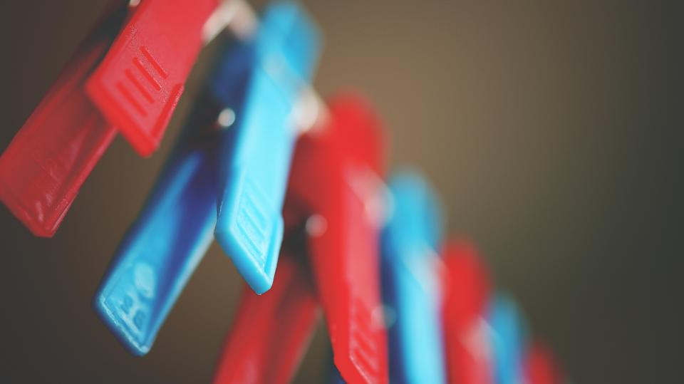 pin clothespin clip clothes colorful red blue blur