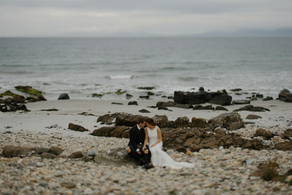 sea ocean water waves nature rocks sand coast shore beach people couple wedding bride groom love