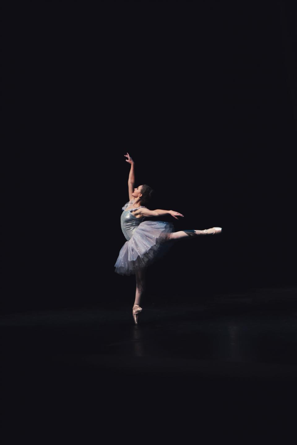 ballet dance people girl ballerina talent dancing dark stage perform