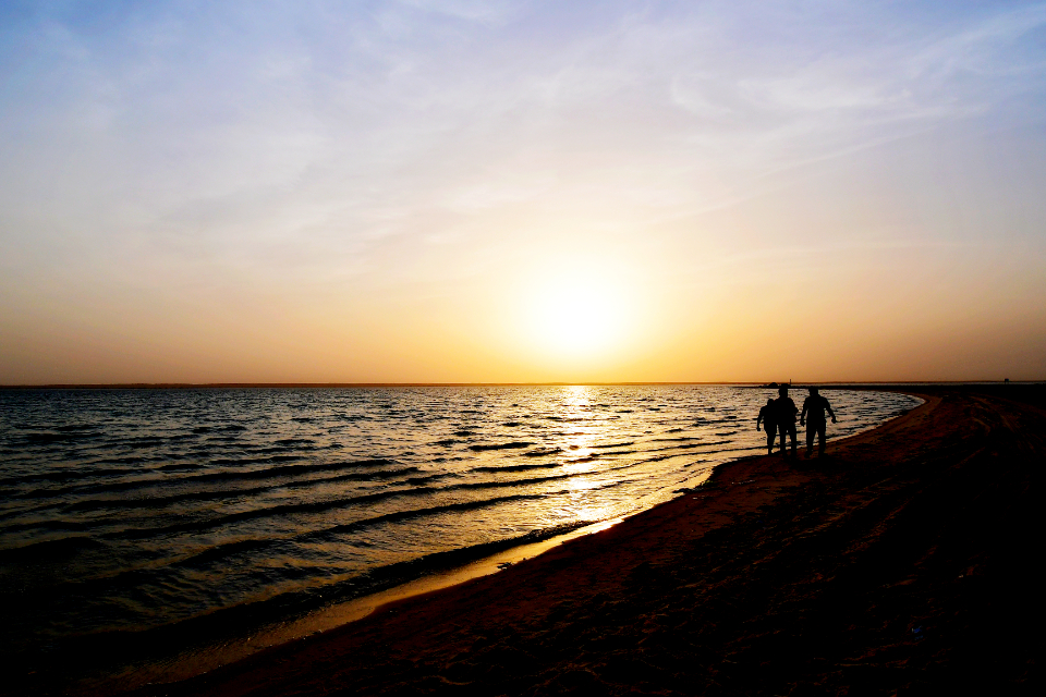sunset beach friends tenderness friendship together togetherness men walking romantic romance at the beach see life sea view sea shells see people people walking relaxing hanging out