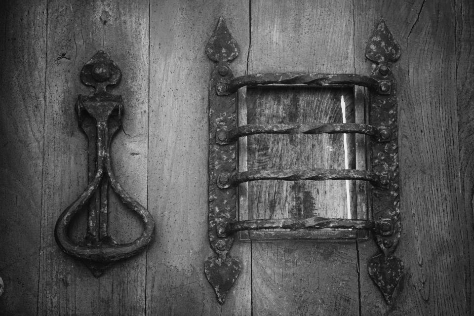 door wood old black and white steel wooden handle