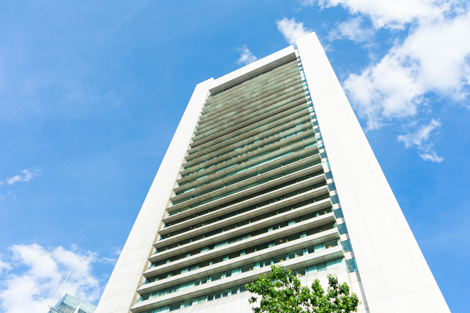 building windows architecture design sky exterior business office tall angle hotel city travel rooms blue clouds
