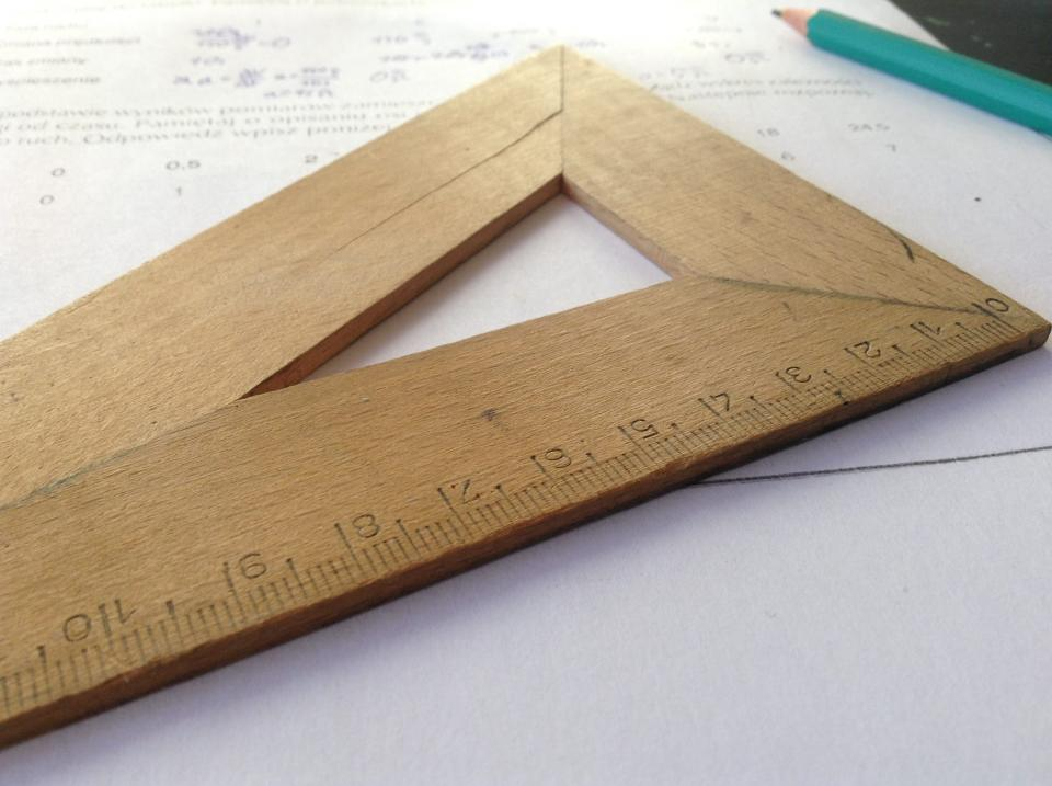 ruler measurement pencil paper school education learn