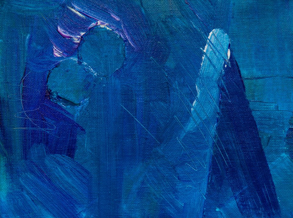 blue abstract painting paint brush brushstroke acrylic art artist creative design close up hd wallpaper canvas detail