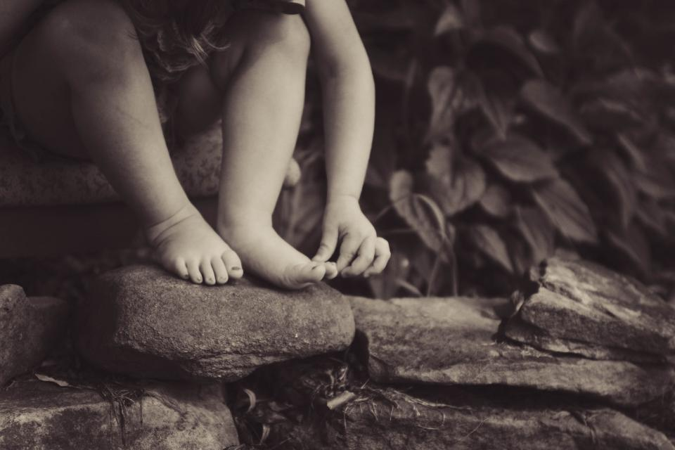 rocks people kid child nature leaves plant sepia monochrome