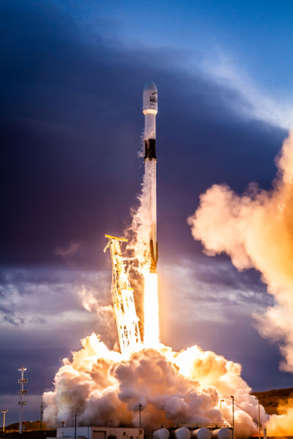 rocket liftoff smoke takeoff launch technology science exploration travel fire sky clouds spacex