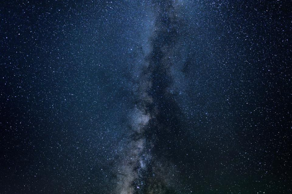 stars galaxy milky way space sky nature night