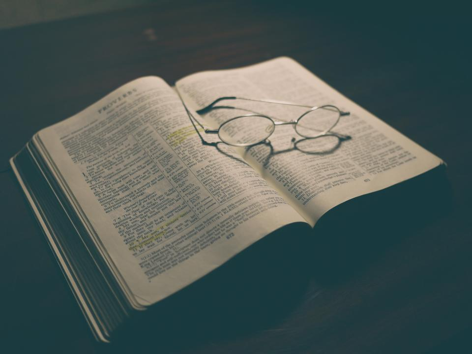 bible book reading study learning proverbs glasses religion