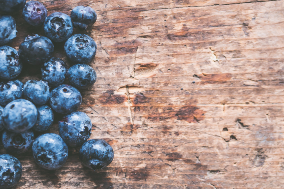 blueberries fruit table wood food fresh rustic texture wall