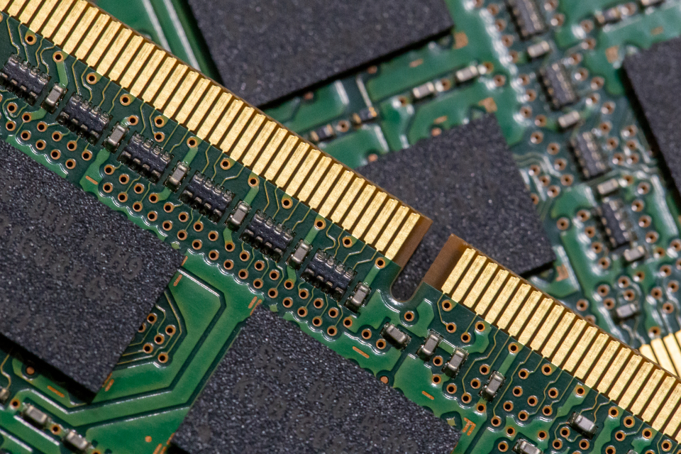 computer ram components modules parts pc circuit technology macro memory internet data objects top background