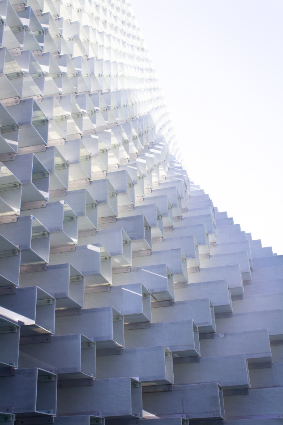 white block architecture stacked modern structure light shadows outdoors geometric pattern cubes abstract futuristic design perspective square