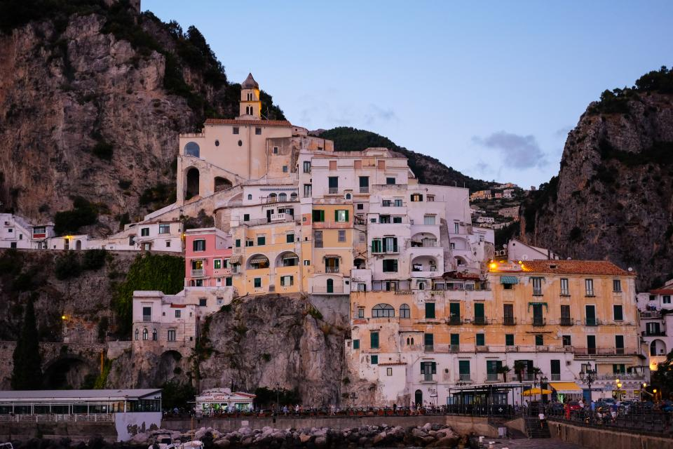 architecture building infrastructure design amalfi italy landmark highland landscape view coast