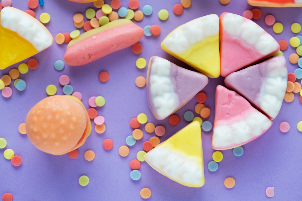 birthday bonbon burger burger candy cake candy celebration chewing chewy childhood closeup colorful confection confectionery confetti sprinkles delicious dessert edible festive flavor food fruit gummy isolated jelly junk