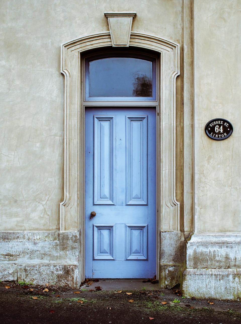 blue door people places travel house home street