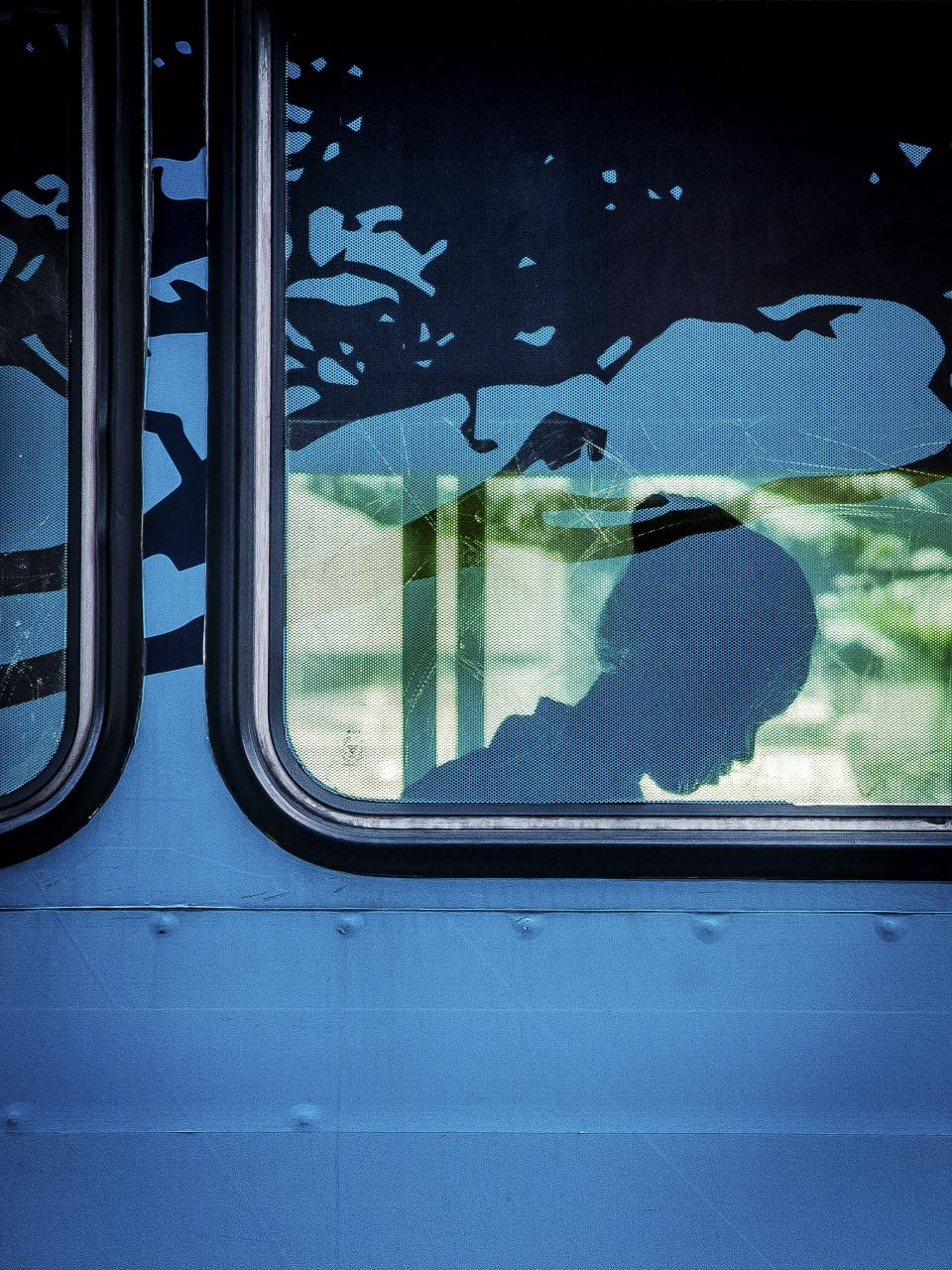 train window people girl passenger silhouette travel