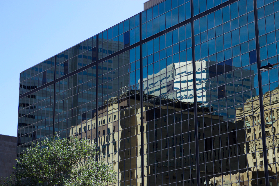 glass building reflection architecture city buildings windows office abstract business modern design exterior downtown