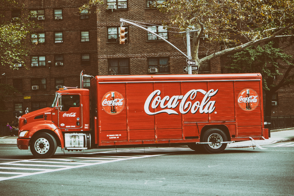 cocacola truck vintage red nyc new york usa city street coke