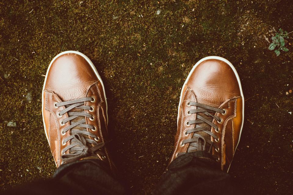 brown leather shoes footwear travel man