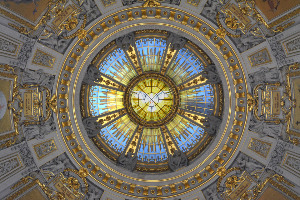 cathedral dome architecture ceiling church stained glass interior art circle design building landmark religion