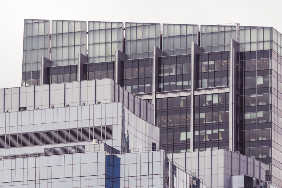glass building architecture city windows office business modern design exterior downtown sky