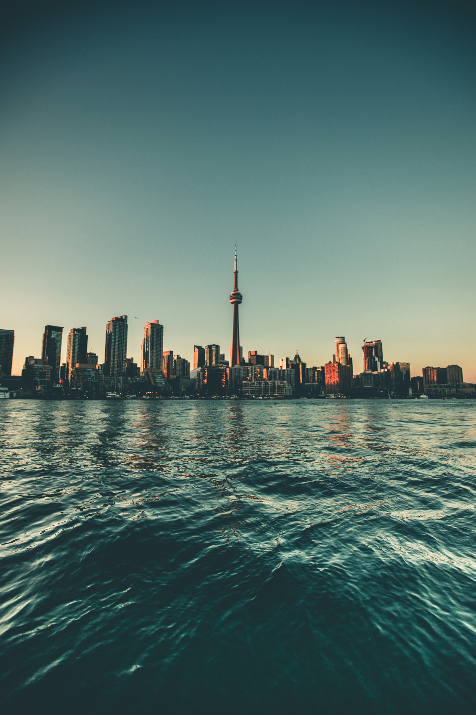 City Toronto Lake Water Urban Buildings CN Tower Tower building landscape city scape cityscape