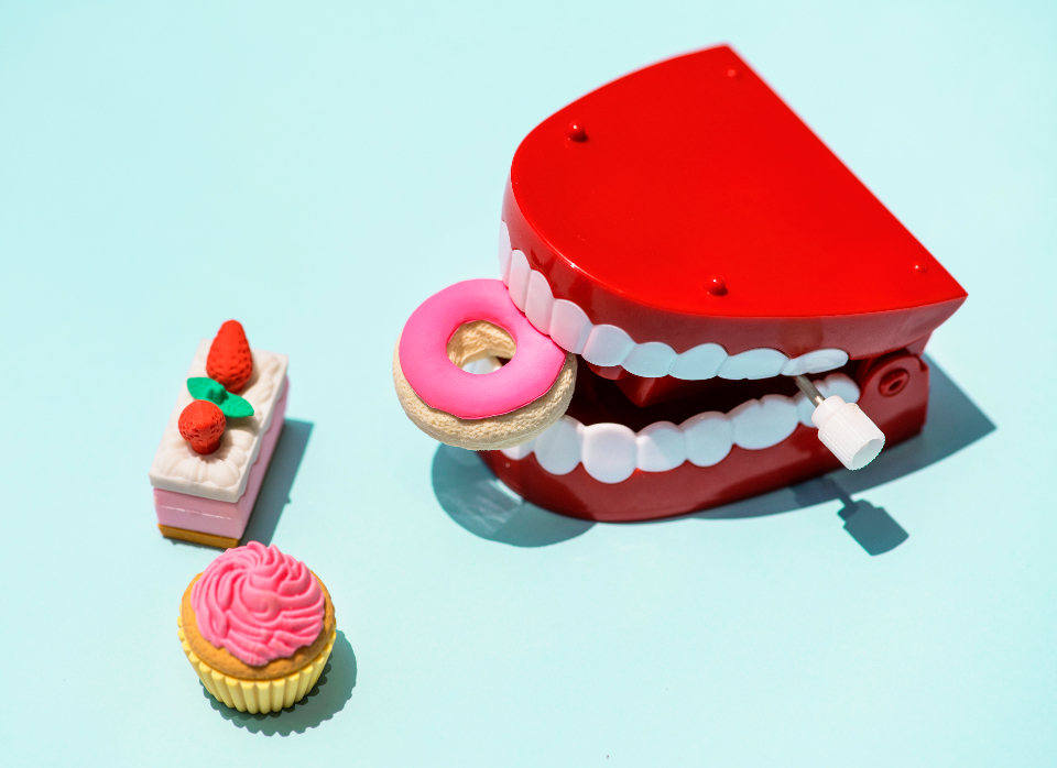 artificial background blue bright cake chattering chattering teeth childish children chocolate clinic close up close-up colorful cupcake cute decoration dental dentistry denture dessert donut dummy eating education fake fa