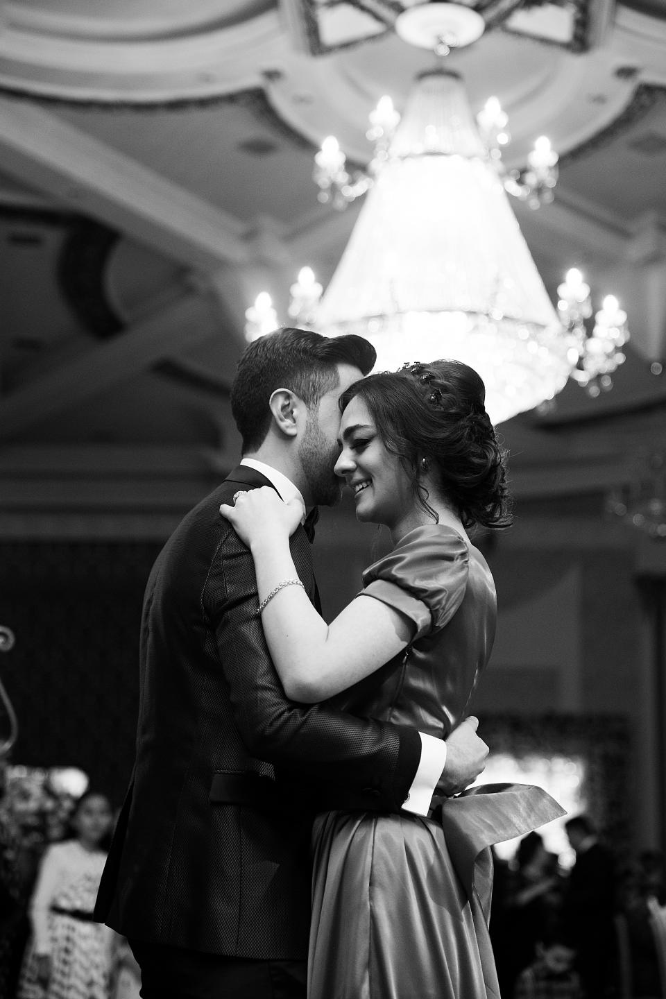 people man woman female male hug smile happy wedding dance black and white party