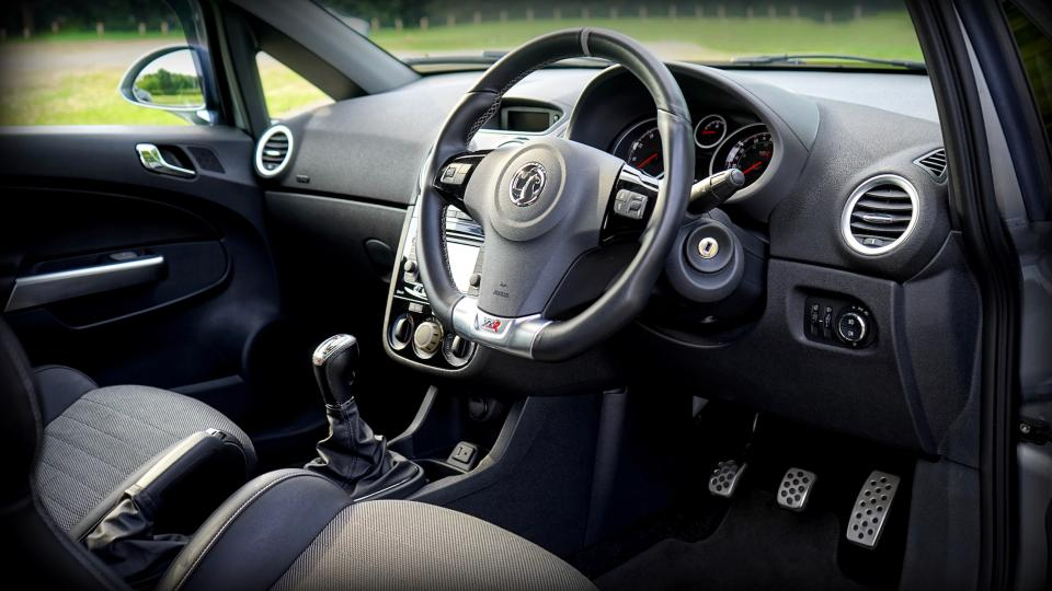 car vehicle interior black steering wheel vauxhall