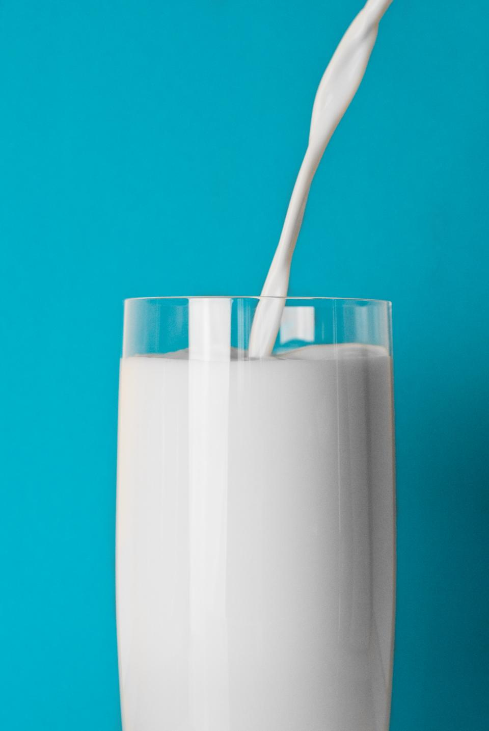 glass milk drink