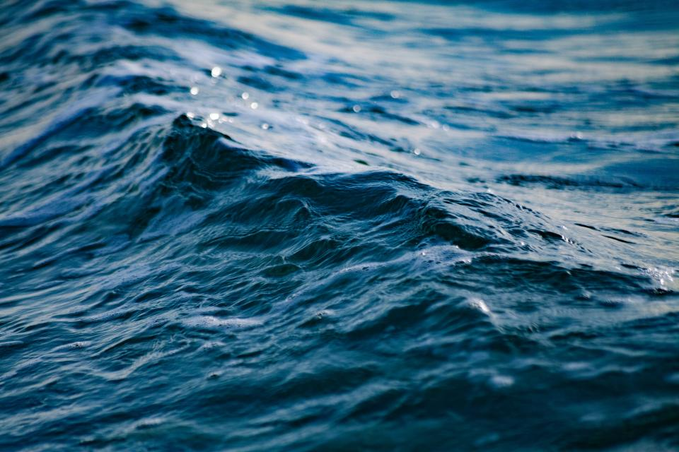 sea ocean water blue waves nature