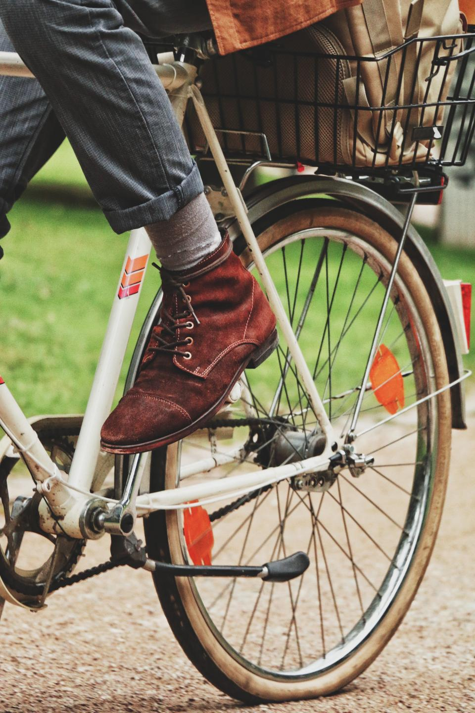 bicycle rusty old bokeh handle bike sport people man boots