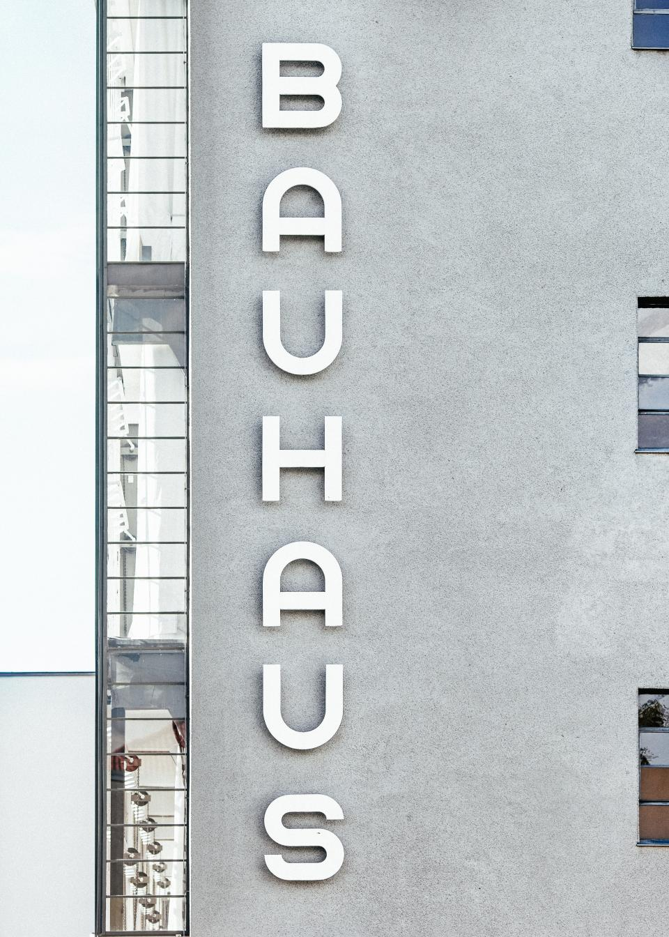 bauhaus text letter font kerning building establishment architecture wall